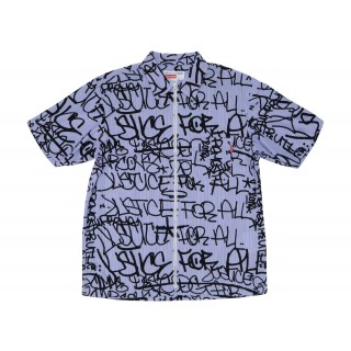 FW18 Supreme Comme des Garcons SHIRT Graphic S/S Shirt Blue Stripe