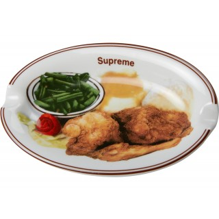 FW18 Supreme Chicken Dinner Plate Ashtray White