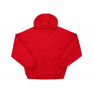 FW18 Supreme Cotton Hooded Raglan Jacket Red