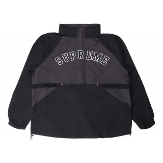 FW18 Supreme Court Half Zip Pullover Black