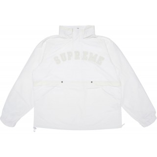 FW18 Supreme Court Half Zip Pullover White