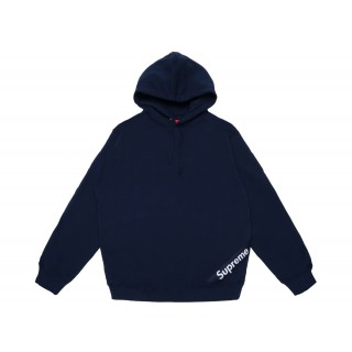 FW18 Supreme Corner Label Hooded Sweatshirt Navy