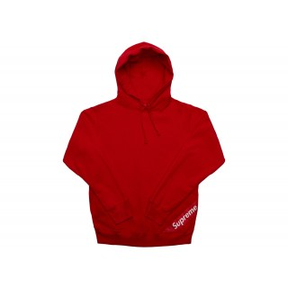 FW18 Supreme Corner Label Hooded Sweatshirt Red