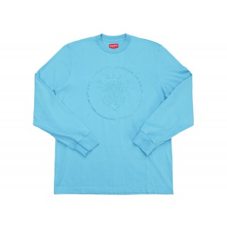 FW18 Supreme Crest L/S Top Light Blue