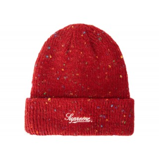 FW18 Supreme Colored Speckle Beanie Dark Red