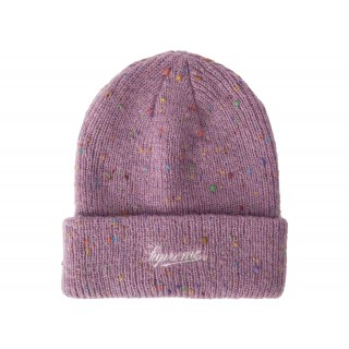 FW18 Supreme Colored Speckle Beanie Purple