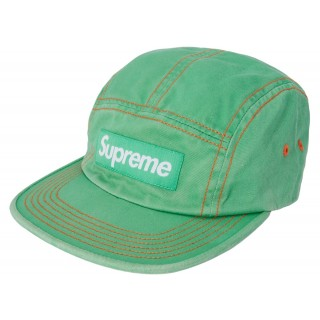 FW18 Supreme Contrast Stitch Camp Cap (SS18) Light Kelly