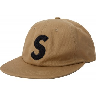 FW18 Supreme Chenille S Logo 6 Panel Tan