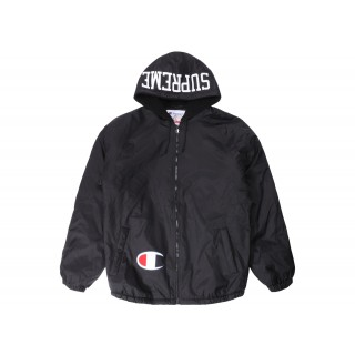 FW18 Supreme Champion Sherpa Lined Hooded Jacket Black