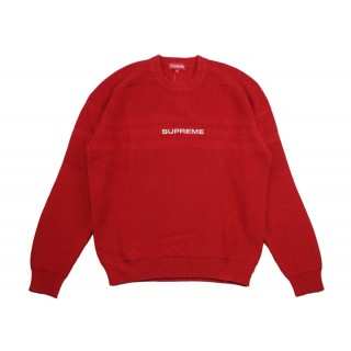 FW18 Supreme Chest Stripe Raglan Sweater Red