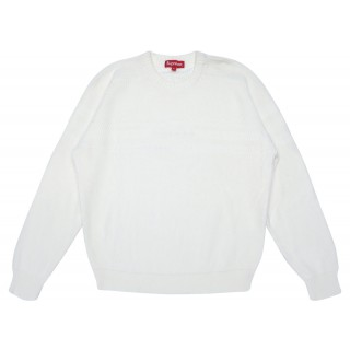 FW18 Supreme Chest Stripe Raglan Sweater White