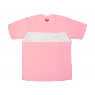 FW18 Supreme Chest Stripe Terry Top Light Pink