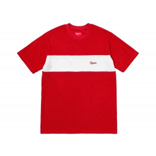FW18 Supreme Chest Stripe Terry Top Red