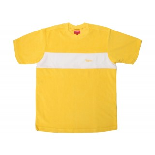 FW18 Supreme Chest Stripe Terry Top Yellow