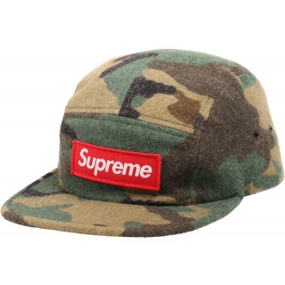 FW18 Supreme Camo Wool Camp Cap Green