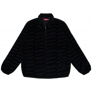 FW18 Supreme Debossed Logo Corduroy Jacket Black
