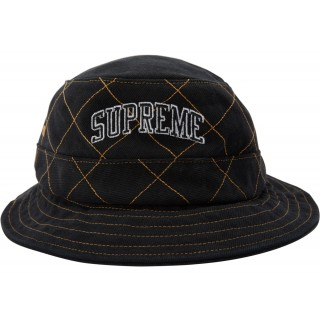 FW18 Supreme Diamond Stitch Crusher Black