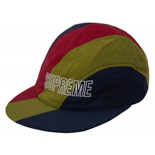 FW18 Supreme Diagonal Stripe Nylon Hat Navy
