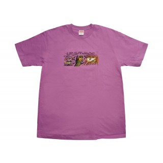 FW18 Supreme Dog Shit Tee Light Purple