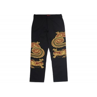 FW18 Supreme Dragon Work Pant Black