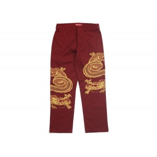 FW18 Supreme Dragon Work Pant Red
