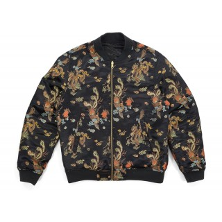 FW18 Supreme Emperor Reversible Bomber Jacket Black