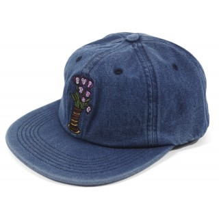FW18 Supreme Flowers 6-Panel Denim