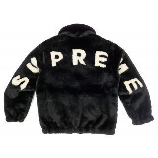 FW18 Supreme Faux Fur Bomber Jacket Black