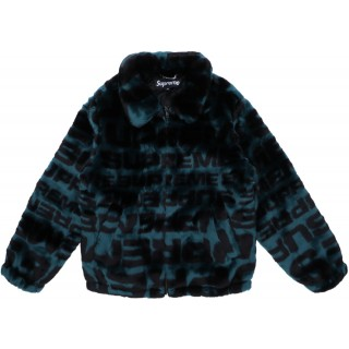 FW18 Supreme Faux Fur Repeater Bomber Dark Teal