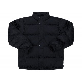 FW18 Supreme Fuck Jacquard Puffy Jacket Black