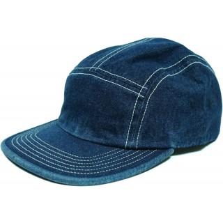 FW18 Supreme Fitted Rear Patch Camp Cap Denim
