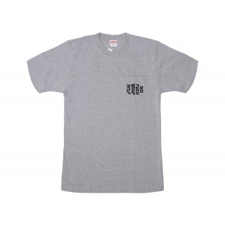 FW18 Supreme Go Fuck Yourself Pocket Tee Heather Grey