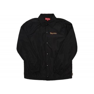 FW18 Supreme Gonz Logo Coaches Jacket Black