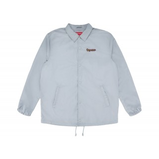 FW18 Supreme Gonz Logo Coaches Jacket Grey