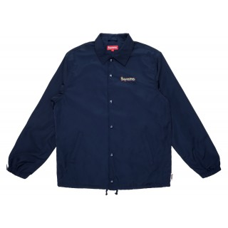 FW18 Supreme Gonz Logo Coaches Jacket Navy