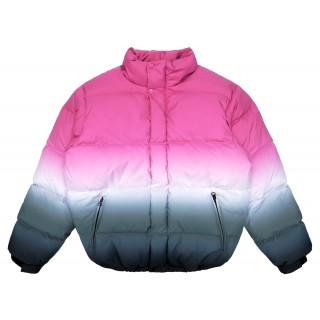 FW18 Supreme Gradient Puffy Jacket Pink