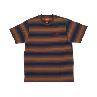 FW18 Supreme Gradient Striped S/S Top Brown