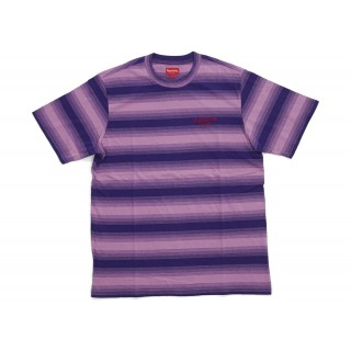 FW18 Supreme Gradient Striped S/S Top Purple