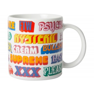 FW18 Supreme Hysteric Glamour Ceramic Coffee Mug White