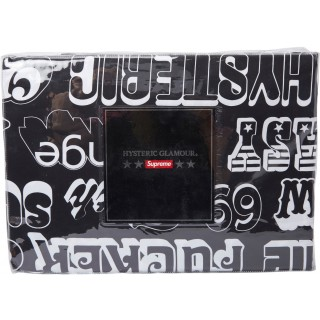 FW18 Supreme Hysteric Glamour Text Duvet + Pillow Set Black
