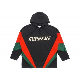 FW18 Supreme Hooded Hockey Jersey Black