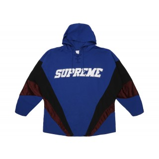 FW18 Supreme Hooded Hockey Jersey Royal