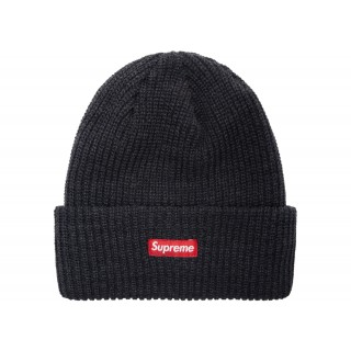FW18 Supreme Heather Loose Gauge Beanie Heather Navy