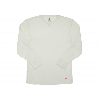 FW18 Supreme Hanes Thermal Crew (1 Pack) Natural