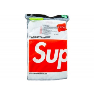 FW18 Supreme Hanes Tank Top (3 Pack) White