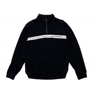 FW18 Supreme Half Zip Warm Up Black