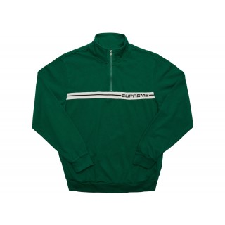 FW18 Supreme Half Zip Warm Up Dark Green