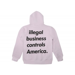 FW18 Supreme Illegal Business Hooded Sweatshirt Light Purple