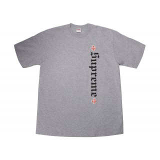 FW18 Supreme Independent Old English Tee Heather Grey