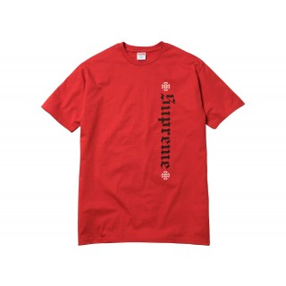 FW18 Supreme Independent Old English Tee Red